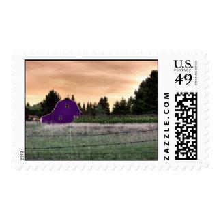 barn-corn2008 enhanced postage stamp