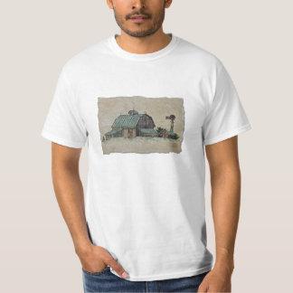 Barn Corn Crib & Windmill T-Shirt