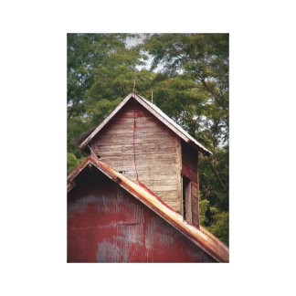 Barn Cupola With Faded Paint Canvas Print