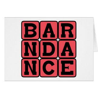 Barn Dance, Traditional Folk Dance Card
