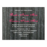 Barn Door and Hot Pink Roses Wedding Invitation