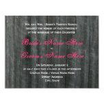 "Barn Door and Hot Pink Roses Wedding Invitation 4.25"" X 5.5"" Invitation Card"