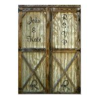 Barn Door Cowboy Wedding RSVP 3.5x5 Paper Invitation Card (<em>$2.23</em>)