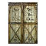 Barn Door Cowboy Wedding Save the Date 3.5x5 Paper Invitation Card
