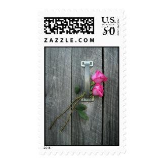 Barn Door & Roses Postage