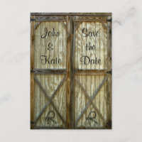 Barn Door Western Wedding Save the Date
