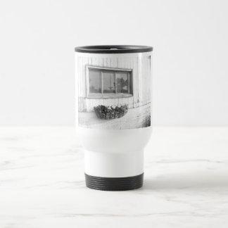 Barn Door Window/Black and White Photography Travel Mug
