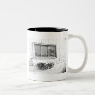 Barn Door Window Two-Tone Coffee Mug