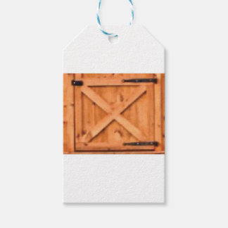 barn door wood gift tags