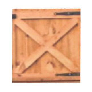 barn door wood notepad