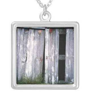 Barn Doors Old Buildings Barns Photo Silver Plated Necklace