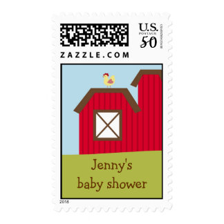Barn Farm Animal Custom Postage Stamps