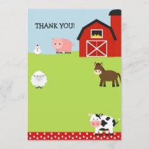 Barn Farm Barnyard Thank You Notes