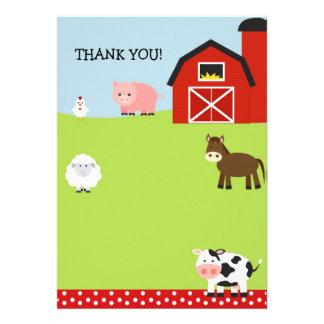 Barn Farm Barnyard Thank You Notes Invitations