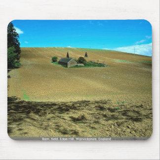 Barn, field, Edge Hill, Warwickshire, England Mouse Pads