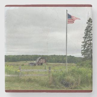 Barn Flag Michigan Landscape Coaster