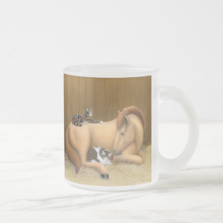 Barn Friends Frosted Glass Mug