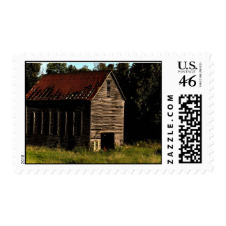 Barn from the past postage stamps