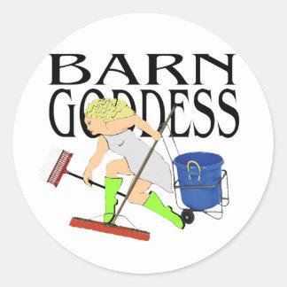 Barn Goddess Classic Round Sticker