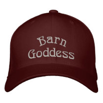 Barn Goddess Cute Horse Embroidered Baseball Hat