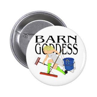 Barn Goddess Pinback Button