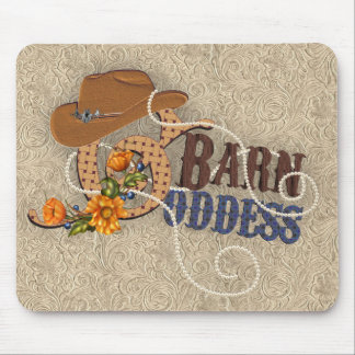 Barn Goddess Tooled Leather Mouse Pad