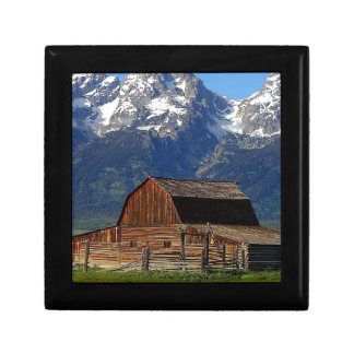 Barn grand Tetons mountains Jewelry Boxes