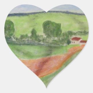 Barn Heart Sticker