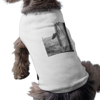 Barn Horse Black and White Photography T-Shirt