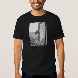 Barn Horse Black and White Photography T Shirts