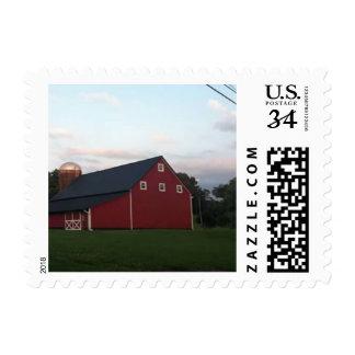 barn house stamp