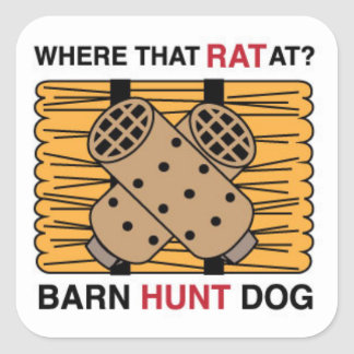 BARN HUNT DOG STICKER