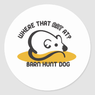 Barn Hunt Mouse Classic Round Sticker