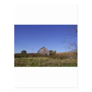 Barn in Fall - Large Postcard