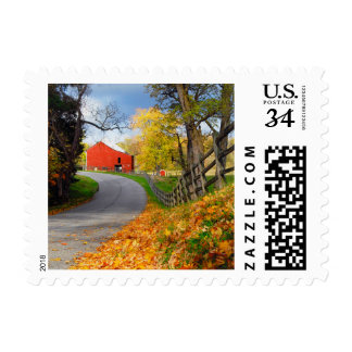 Barn in Fall Stamps