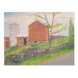 Barn in Fall Warwick NY Postcard