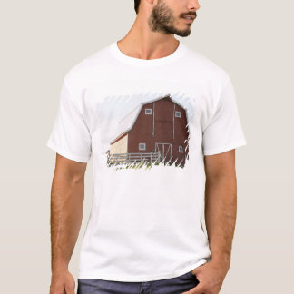 Barn in rural landscape T-Shirt