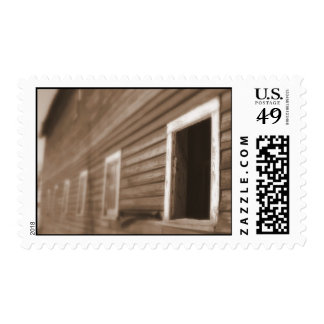 Barn in Sepia tone postage stamps bulk discount