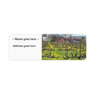 Barn In The Vineyard Label