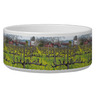 Barn In The Vineyard Dog Water Bowls