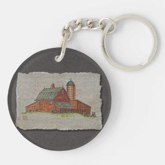 Barn  & Livestock Chute Keychain