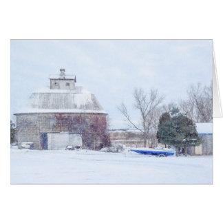 Barn Maple Park Illinois USA Card