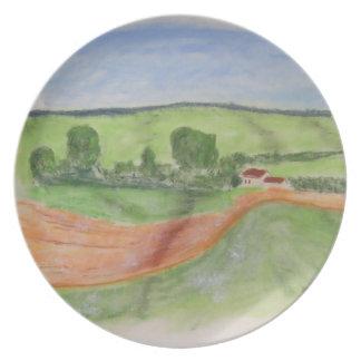 Barn Melamine Plate