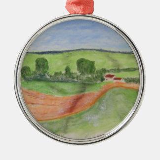 Barn Metal Ornament