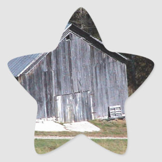 BARN ON A HILL SOUTHWEST VIRGINIA STAR STICKER