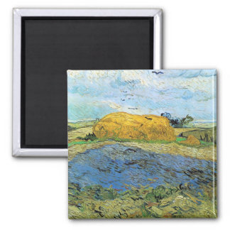 Barn on a rainy day by Vincent van Gogh Magnets