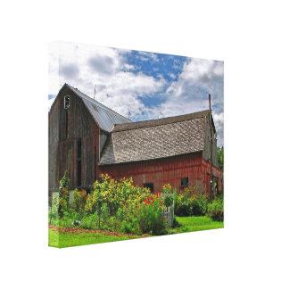 Barn on a Sunny Summer Day Canvas Print