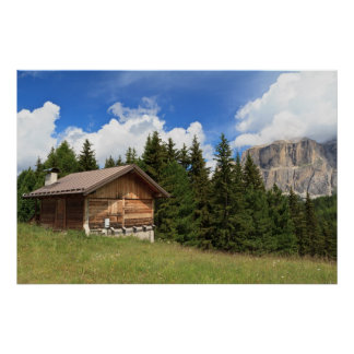 barn on Alpine pasture Posters