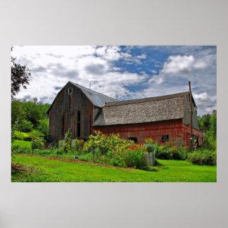 Barn on Sunny Summer Day Print