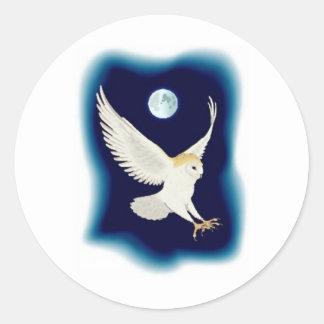barn-owl-1 pegatina redonda
